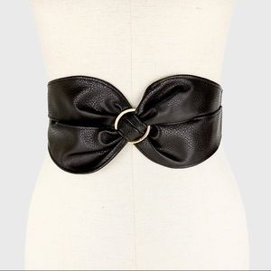 Trendy Faux Leather Wide Belt - Hot Seller